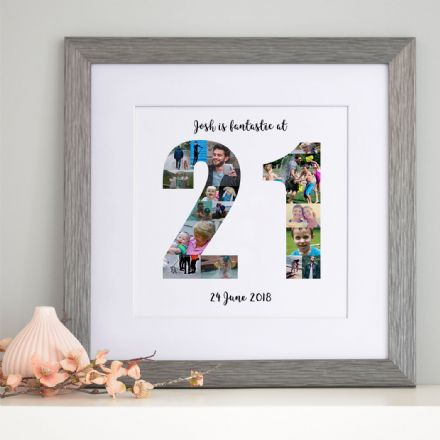 Personalised 21st Birthday Photo Collage